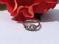 "Antique Jewellery Art Deco Marcasite Ring UK  ""O"""