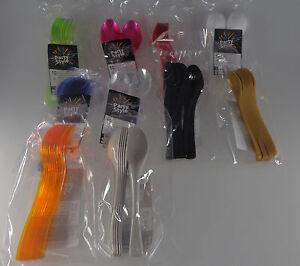 Confezione 10 cucchiai piccoli/cucchiaini dessert, party,in 10 colori - plastica