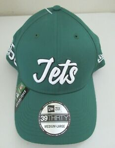 New Era 39Thirty New York Jets Hat On Field 100 Year Patch NFL Size M/L NWT