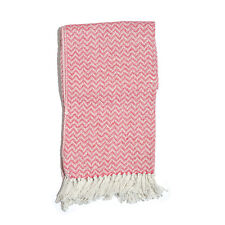 Pink Chevron Pattern 100% Cotton Throw (50x60 In) New! B306