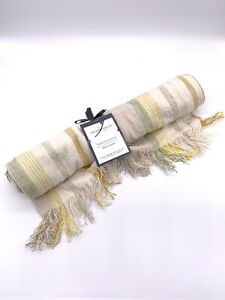"""Threshold by Target Fringed Table Runner 14""""x 72"""" 100% Cotton"""