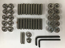 "Big Block Chevy Stainless Steel Oil Pan Stud Kit and Wrenchs 1.25"" Long"