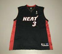 Dwyane Wade #3 Miami Heat NBA Black Red Vintage Reebok Jersey Adult Size XL