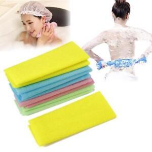 1/2pcs Nylon Japanese Exfoliating Beauty Skin Bath Shower Wash Cloth Towel Back
