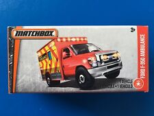 2017 Matchbox Power Grabs 2015 EMS FORD F-350 EMERGENCY AMBULANCE - mint in box!