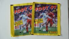 2 POCHETTES TUTEN PANINI FOOTBALL CHAMPIONNAT DE FRANCE 1992 FERMEES SEALED