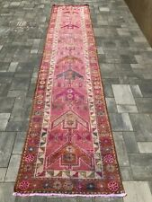 """Turkish Wool Runner, Vintage Hand Knotted Soft Pile 13'x 2'9"""", Free Shipping!"""