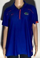 Florida Gators NCAA SEC College Team Nike Dri-Fit Womens 2XL Blue Polo Shirt