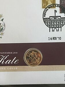 Queen Elizabeth II 2010 22ct Full Gold Sovereign LIMITED SEALED Royal Engagement