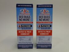 Lot of 2 Bugband Bed Bugs No More Detect and Treat Combo Kit Spray