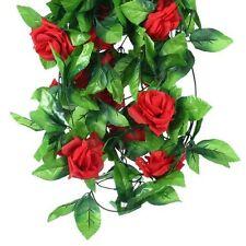1pc Red Garland Artificial Flower Bush Rose Garden Wedding Decoration House Hot
