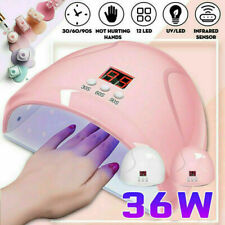 36W LED UV Nail Lamp Polish Dryer Gel Acrylic Curing Light Professional Spa Tool