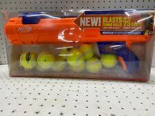 Nerf Dog Tennis Ball Blaster Dog Toy 75 ft Ball Launcher Gun 12 Squeak Ball Set