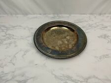 """Vintage 10"""" Silverplate W M Wm A Rogers Plate Dish Tray M1"""