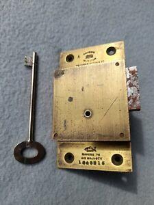 Vintage Brass Chubb Lock And Key