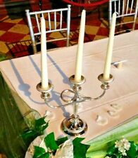 Twist Stem Antique Vintage Silver Plated Candelabras 3/5 Arm Wedding Home Decor