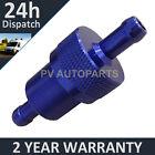 Azul 8mm Metal Universal en Línea Filtro De Combustible Aluminio Anodizado