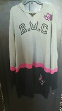 Women plus size rocawear hoodie 3x nwt hard to find pink/ grey/ black