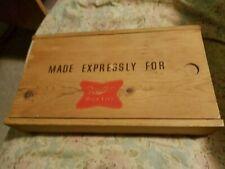 "MILLER HIGH LIFE BEER WOODEN BOX - 10 1/2"" X 6 1/4"""