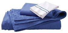 NEW Reversible Blue Twin QUILT & SHAM SET Fits Twin Full Queen Bedding 86x68