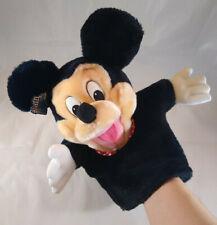 Mickey Mouse Hand Puppet Plush Toy Stuffed Animal WALT DISNEY APPLAUSE VINTAGE