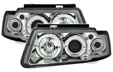 FAROS LUCES ANTES ANGEL EYES CROMO DEL VW PASSAT 3B 1996-2000 TDI 90 110 115
