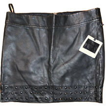 Jessica Simpson • Womens New Black Leather Skirt • Size 25