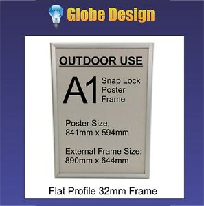 A1 OUTDOOR USE Snap Lock Poster Frame Clip Lock Poster Frame