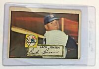 1952 Topps #122 Jack Jensen New York Yankees Baseball Card
