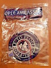 People to People Student Ambassador Program P2P Globe Pin Lanyard 2 Luggage Tags