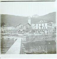 ITALIE Lac Majeur ville à identifier, Photo Stereo Vintage Plaque Verre VR3L8n5