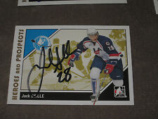 JACK SKILLE AUTOGRAPHED 2007-2008 ITG HEROES AND PROSPECTS CARD