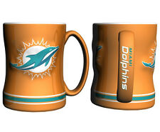 Miami Dolphins Coffee Mug - 15oz Sculpted [NEW] Tea Warm Microwave Cup CDG