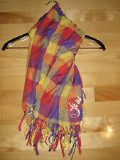 Gsus MULTI- COLOR Scarf GOLD Print LightWeight  FREE SHIPPING