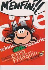 FRANQUIN. Carte postale Gaston m'enfin ! Expo Monde Franquin 2004