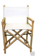 Bamboo Tiki Director Chairs Patio Deck Folding Set of 2