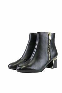 DKNY Schuhe Stiefelette Damen Gr. EU 37 Schwarz Blockabsatz