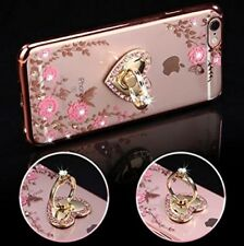 iPhone 7 Plus Floral Crystal TPU Case-Inspirationc Soft Slim Bling Plating