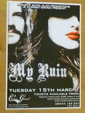 My Ruin - Glasgow march 2011 tour concert gig poster