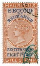 (I.B) Mauritius Revenue : Bill of Exchange 16/8d (Second)