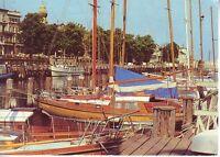 Postkarte Ansichtskarte DDR Rostock-Warnemünde Am Alten Strom Hafen Schiffe 1986