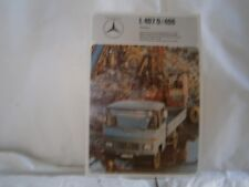 Catalogue voiture pub auto prospectus Camion Mercedes Benz L407D/409 chassis