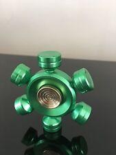 green aluminium metal finger hand spinner fidget spinning toy steel bearing