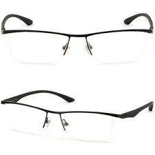 Leichte Herrenbrille Damenbrille Brillengestell Halbrand Titan Fassung Schwarze
