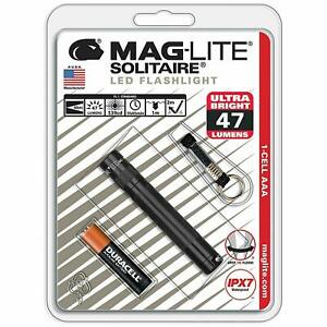 MAGLITE Solitaire LED Noir Porte-Clés Sizetorch Neuf Gratuit Royaume-Uni