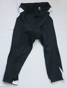 Castelli Cycling womens knickers 3/4 tights size XL black KISS 3 Donna