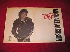 MICHAEL JACKSON - 1987 US Full Double-Page Ad 'BAD' Album (Radio & Records) NICE