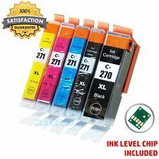 5pk PGI270xl CLI271XL Ink Cartridge For Canon Pixma MG6820 MG5720 TS5020 MG6822