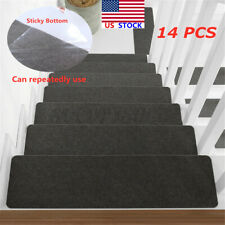 14PCS Stair Treads Non Skid Slip Pads Carpet Stair Safety Tread Soft Home Indoor
