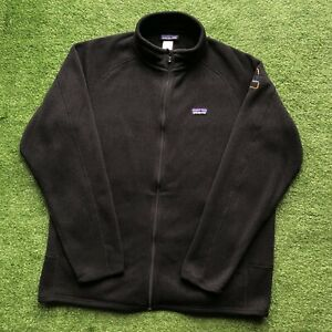 Patagonia Better Sweater Full Zip Men's Size Large Black Fleece Embroidered Rare